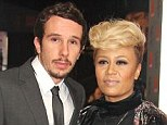 In love: Emeli Sandé is to marry her long-term partner Adam Gouraguine this weekend - the pair have been dating for seven years