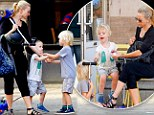 Supermum: Naomi Watts gets ice-cream and plays peacemaker with her two scooting sons