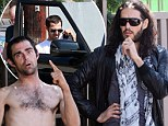 Russell Brand helps a homeless man in LA
