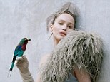 Free as a bird: Jennifer Lawrence has told W magazine that she doesn't want to live in Los Angeles