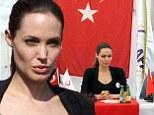 Angelina Jolie speaks in Turkey