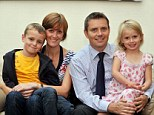 Guardianship arrangements: Paul and Clare Coulston with son Finlay, six and daughter Evelyn Coulston, four
