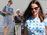Following in Mommy's footsteps? Jennifer Garner takes daughter Violet to karate after lunching with friends in Brentwood