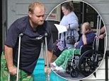 Injured: Honey Boo Boo's father Mike has picked up an injury