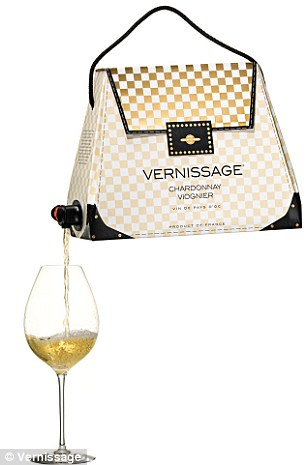 Vino en vogue: Swedish company Vernissage is launching three varieties of boxed wine to the States that are disguised to look like women's handbags