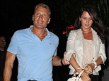 Dolph Lundgren keeps a protective hand on his girlfriend Jenny Sandersson as they leave the Chateau Marmont