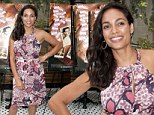 Rosario Dawson at the 10 Years reunion brunch in new York City