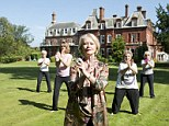 Show of hands: Anthea Gerrie, second right, joins a t'ai chi session led by life coach Tanya Wheway