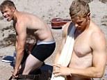 Beach beefcake: Twilight hunk Kellan Lutz strips down for Malibu photo shoot