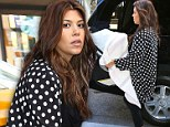 Spots in the city! Kourtney Kardashian dons polka dots for NYC stroll with baby Penelope