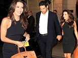 It's official! Eva Longoria and Mark Sanchez hold hands during first public appearance since admitting they are dating