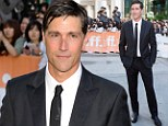 Troubled star: Matthew Fox looked handsome as ever in his black suit and shiny tie at tonight's world premiere of Emperor at the Toronto Film Festival