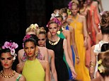 A riot of colour: Daniella Helayel always injects her collections with vivid hues and vibrant prints