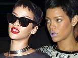 Hard to chew was it? Rihanna removes her gaudy gold grill as she dines out with a friend at her favourite restaurant