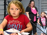 The price of fame: Honey Boo Boo squeezes in some fun between signing autographs at the amusement arcade and a press junket