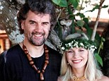 Paradise: Pamela Stephenson with Billy Connelly on their wedding day on the island of Fiji in 1989