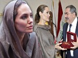 Angelina Jolie visited an area of Baghdad home to families previously displaced by the conflict in Iraq and now returning due to conflict in Syria