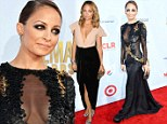 Taking the plunge! Nicole Richie gets risky in two VERY revealing dresses during a fashionable few days