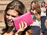 AnnaLynne McCord shows off her spotty complexion as she goes make-up free