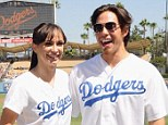 Jammy Dodgers! Karina Smirnoff puts on a show for LA fans as she larks around with Apolo Ohno before match