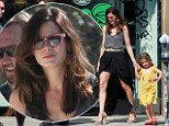 Michelle Monaghan wows in a mullet skirt as she takes her daughter to a fancy dress party
