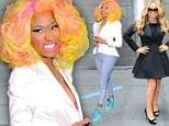 Nicki Minaj and Mariah Carey arrive at the American Idol auditions in New York City