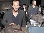 The end of another excellent adventure! Keanu Reeves looks relaxed as he touches down in LA