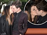 Can't stop kissing: 90210 star Shenae Grimes smooches with her beau Josh Beech inside and outside of the Topshop Unique show