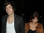 Date night? Harry Styles was seen leaving Groucho club in the early hours of the morning on Thursday with Pixie Geldof in tow