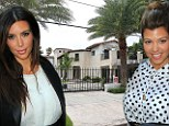 Nice place to call home! Kim and Kourtney Kardashian 'moving into $6million Miami house' for three months