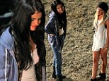 Selena Gomez gets a surprise visit from Disney pal Ashley Tisdale on the set of her movie The Getaway