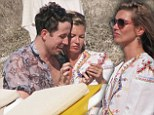 It's early mornings from here on out: Kate Moss and Nick Grimshaw party in Ibiza before he takes over R1 Breakfast Show