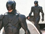 First look at Robocop as he comes back to life as remake of iconic 80s movie gets underway in Toronto