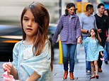Lots to catch up on! Katie Holmes relishes in spending the weekend with daughter Suri after her very first week of primary school