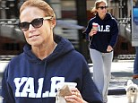 Katie Couric out for walk with a friend and their dogs in Manhattan