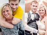 Support: The progress of Taylor Morris, 23, is testament to the unwavering support of his family, friends and girlfriend Danielle Kelly. The soldier, from Iowa, lost his arms and legs in an IED explosion in Afghanistan in May