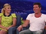 Fiery banter: X Factor USA judges Demi Lovato and Simon Cowell appeared on The Tonight Show with Conan O'Brien on Monday night