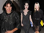 Samantha Cameron, Dita Von Teese and Kate Moss at the Dover Street Arts Club