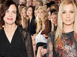 Kate Moss pictured at the Mulberry catwalk show during London Fashion Week