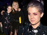 Too fashion forward? Kelly Osbourne shows off yet another unusual look as the attends Serpentine Gallery party