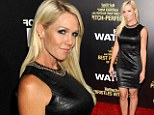 Leather mummy! Jennie Garth goes edgy in leather mini-dress at the End of Watch premiere