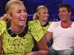 'You're an a**hole!' Demi Lovato tells fellow X Factor judge Simon Cowell what she really thinks and makes fun of his 'man cleavage'