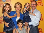Alexis Bellino, Jim Bellino with their Children at the Los Angeles Premiere Of Ringling Bros