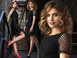 Glamour girl: Sophia Bush showed off her toned legs in a sparkling black dress and red strappy heels on the cover of the latest issue of Emmy magazine