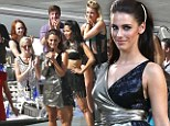 Sexy in silver! 90210 watch Jessica Lowndes' dress to impress for performance at the Hollywood Bowl