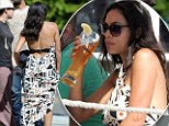 Rosario Dawson drank beer and wore a backless dress at Venice Beach