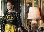 Luxuriously lavish: The red-haired wife of Gordon Getty, fourth child of oil tycoon J. Paul Getty, shows off her dazzling San Fransisco mansion, designed by architect Willis Polk in 1906 in the latest issue of Harper's Bazaar