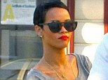 Rihanna stops in for a bite to eat with friends