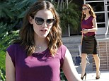 Hot mama! Jennifer Garner dons tight leather skirt and killer heels as she leaves chat show appearance