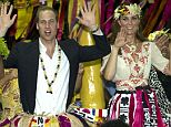 The Duke and Duchess of Cambridge donned grass skirts and took part in a traditional welcome dance today on the last leg of their South Pacific tour